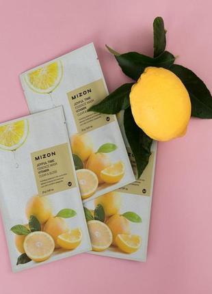 Тканевая маска с экстрактом витамина с mizon joyful time essence mask - vitamin