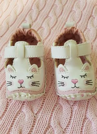 Пинетки туфельки для новорожденной принцессы