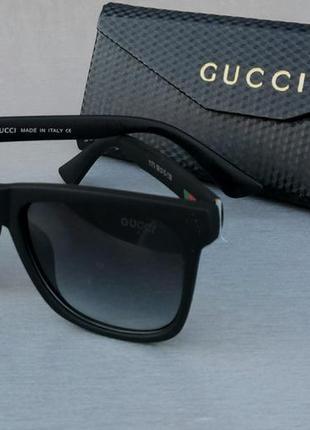 Gucci очки мужские солнцезащитные черные