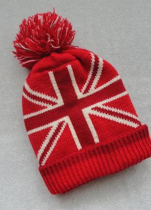 Теплая двойная шапка