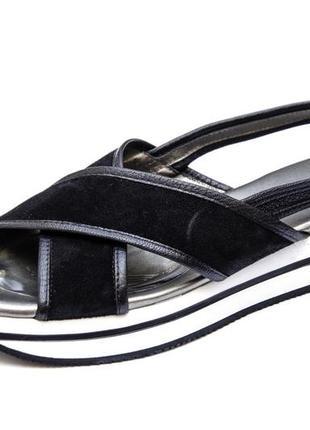 Кожаные сандалии hogan. стелька 25 см