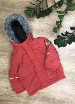 Тёплая куртка 2-4 года