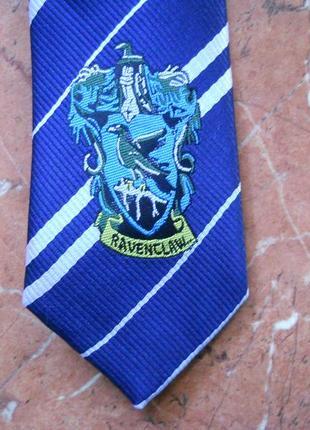 Галстук с гербом когтевран, в полоску, гарри поттер косплей лавгуд