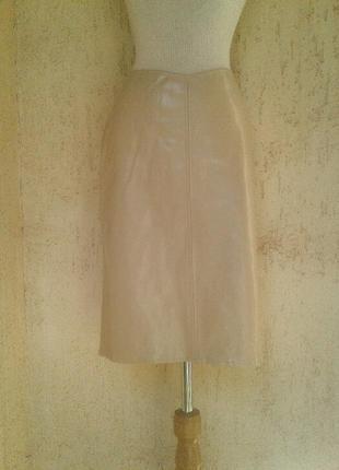 Клеенчатая юбка слонового цвета, м-l.