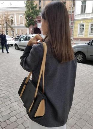 Кожаная сумка багет gucci