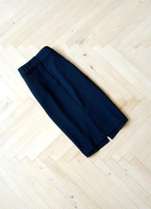 Базовая крутая миди юбка m&s с карманами