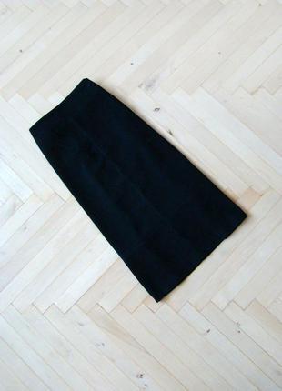 Замшевая миди юбка zara basic черного цвета
