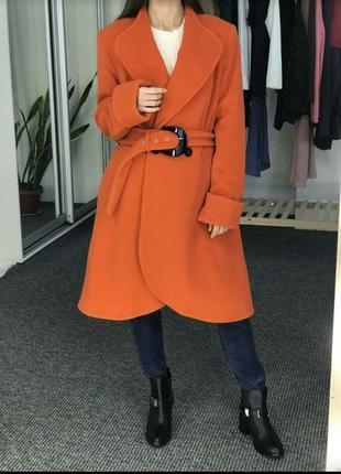 Шерстяное демисезонное пальто, пальтишко ashley brook