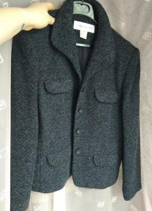 Крутой теплый пиджак жакет