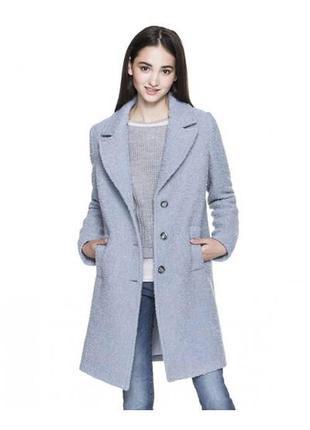 Шерстяное пальто букле от benetton