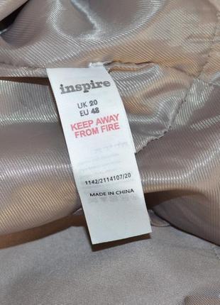 Брендовый плащ тренч с кожаными вставками inspire new look большой размер этикетка5 фото