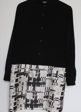 Dkny шелковое платье с рубашкой