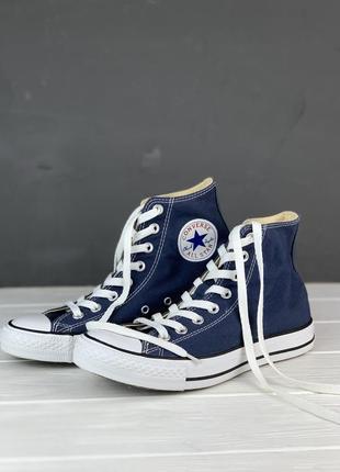 Кеды высокие converse all star original 39.5 женские синие