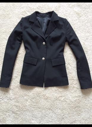 Чорний класичний піджак пиджак як новий xs-s