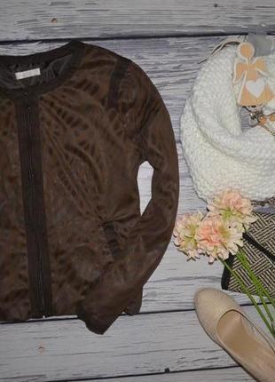 М/l фирменный женский обалденный пиджак ветровка с принтом под замш