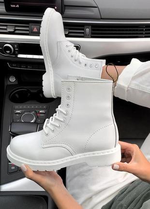 Шикарные зимние белоснежные ботинки dr. martens fur white winter 😍 (с мехом)