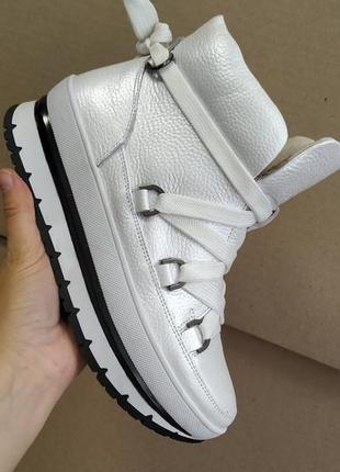 Зимние ботинки кожаные fabio gutti