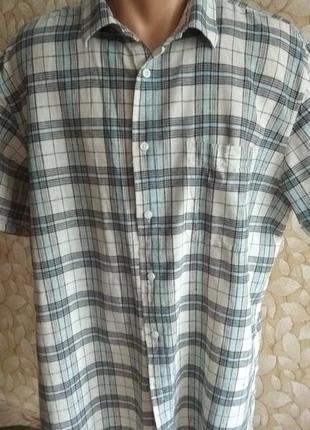 Рубашка льняная большая dressmann
