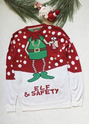 Новогодний свитер с ельфом (81), размер м