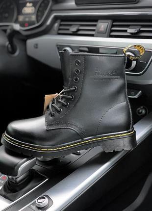 Шикарные зимние чёрные ботинки dr. martens classic fur winter black 😍 (с мехом)
