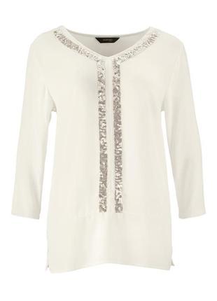 Нежно струящаяся блуза со сверкающими паетками tchibo, германия