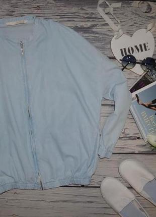 М яркий женский фирменный котоновый джинсовый бомбер кофта зара zara