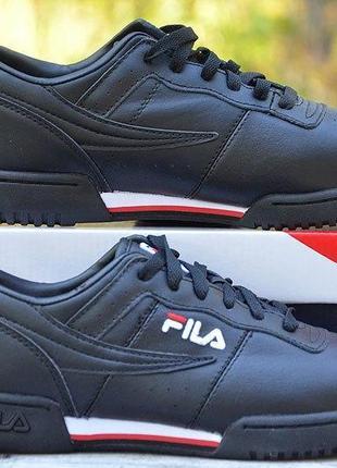 Оригинал fila! черные мужские кеды ! идеальны для осени!