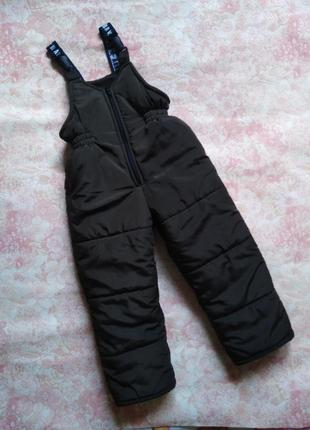 Полукомбинезон штаны зимние на 3 года