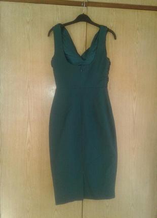 Катоновое платье цвета морской волны, xs - s.2 фото