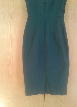Катоновое платье цвета морской волны, xs - s.3 фото