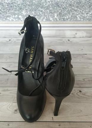 36-37р кожа! новые san marina франция,туфли,лодочки на каблуке3 фото