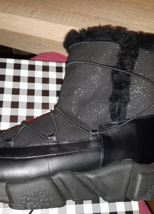 Сапоги ботинки зимние кожа