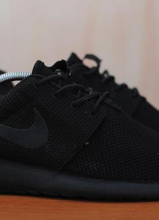 Черные мужские кроссовки nike roshe run, 41 размер. оригинал
