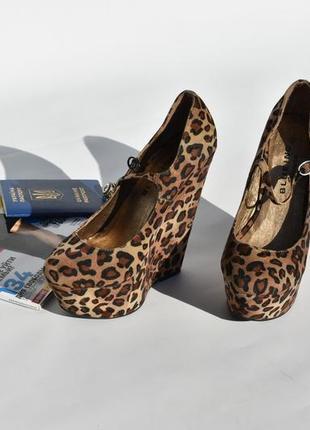 Blue inc оригинал! женские  туфли леопард на платформе размер 38