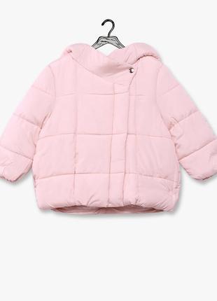 Нежная теплая куртка пуффер f&f, указано 3-4 г