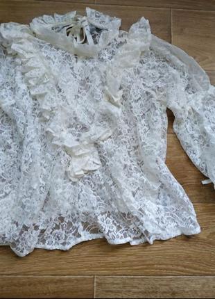 Блуза кружевная asos