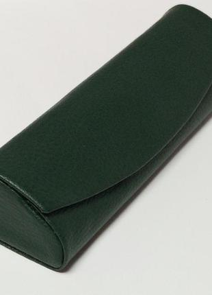 Футляр на магните для очков темно-зеленый
