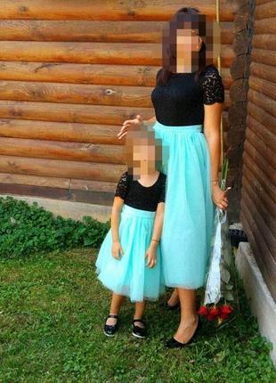 Плаття мама і дочка family look