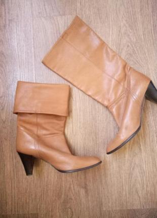 Шикарные кожаные сапоги деми размер 38