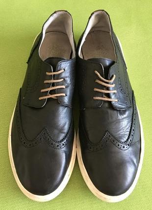 Туфли, мокасины кожаные, англия, р.44