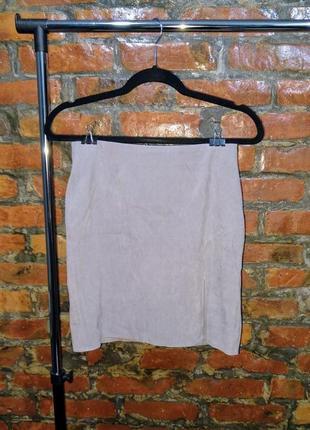 Стильная юбка из эко замши