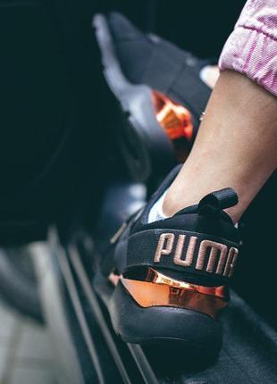 Шикарные кроссовки puma muse metal в черном цвете (весна-лето-осень)😍4 фото