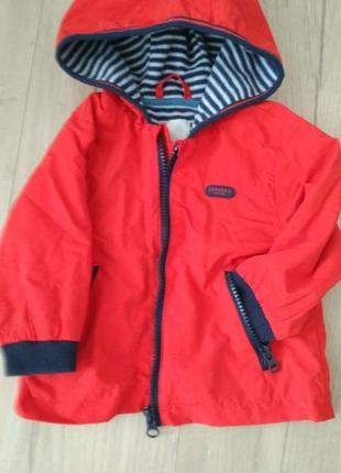 Куртка(ветровка) на флисе 06-09месяцев