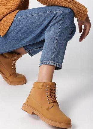 Новые женские зимние карамельные ботинки