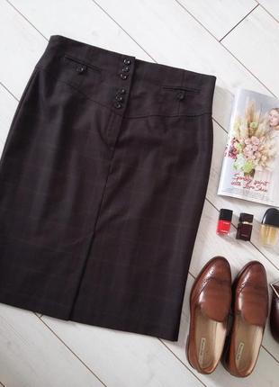 Идеальная юбка миди  карандаш  на высокую талию для деловой девушки