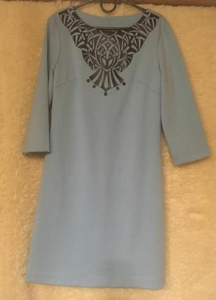 Милое платьице небесно голубого цвета