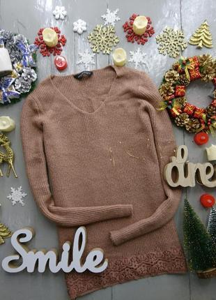 Актуальный свитер с с кружевом oversize №67 dorothy perkins