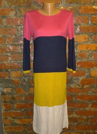 Облегающее платье свитер из трикотажа color-block george