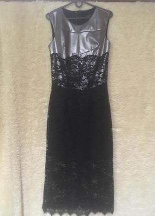 Коктейльное платье серебристого цвета