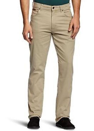 Фирменные бежевые плотные прямые джинсы wrangler оригинал, размер 42 - 44